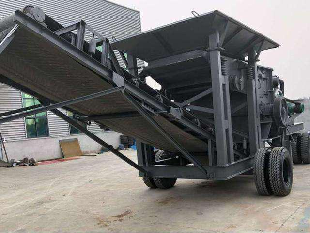 湖北襄控机电工程设备有限公司移动智能制沙机好品牌 产品移动灵活 获得广大消费者的喜爱
